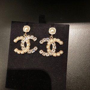 Chanel CC dangle earrings